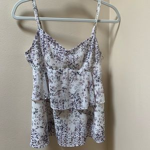 CAni camisole white and lavender